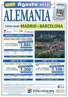 """ALEMANIA Tour """"C"""", sal. Domingos 10, 17, 24 y 31/08 dsd Madrid (8d/7n) precio final desde 1.100€ ultimo minuto - http://zocotours.com/alemania-tour-c-sal-domingos-10-17-24-y-3108-dsd-madrid-8d7n-precio-final-desde-1-100e-ultimo-minuto/"""