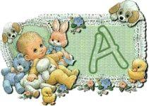 Alfabeto de bebés de R. Morehead.