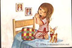 postal constanza * niña rezando * año 1972 - - Comprar Dibujos y ...