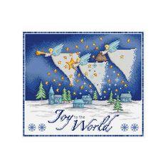 joy to the world cross stitch pattern by DureneJones on Etsy
