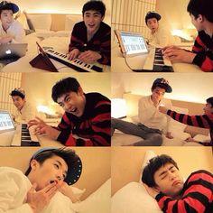 2PM Wooyoung Nichkhun.                         Cute