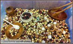 Bead sensory bin