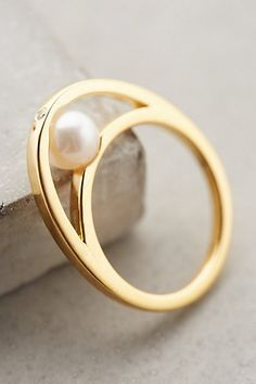 Love the Gold Philosophy Pearl Embrace Ring on Wantering. Pearl Ring, Pearl Jewelry, Jewelry Box, Jewelry Rings, Jewelry Watches, Jewelry Accessories, Fine Jewelry, Jewellery, Bijoux Design