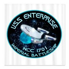 Star Trek Battleship Shower Curtain!!!