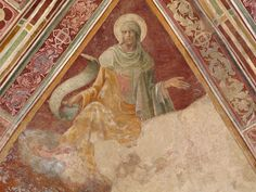 Lorenzo Monaco - Profeta Michea - affresco - 1420-1424 - Volta - Cappella Bartolini Salimbeni - Firenze, Basilica della S. Trinità