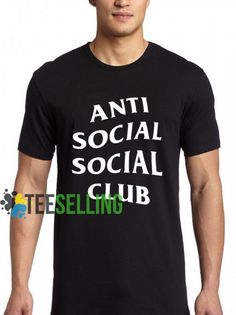 Anti Social Social Club T shirt Adult Unisex For men and women Size Price: Cute Graphic Tees, Graphic Shirts, Anti Social Social Club, Workout Shirts, How To Look Better, Unisex, Hoodie, Mens Tops, Women