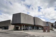 Ampliación del Museo de Arte y Cine de Lillehammer, Noruega - Snøhetta; diseño de fachada metálica: Bård Breivik; estructura original: Erling Viksjø - foto: Mark Syke