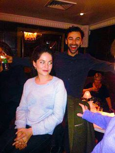 Aidan Turner and his girlfriend, Sarah Greene, at the Subtitle Film Festival: 2013