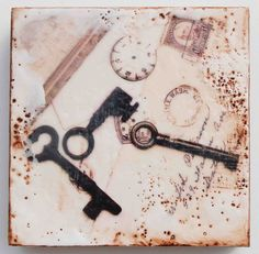 the keys to time (encaustic photo painting.. have to try this someday)