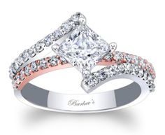 Barker's Two Tone Diamond Engagement Ring - 7976LTW