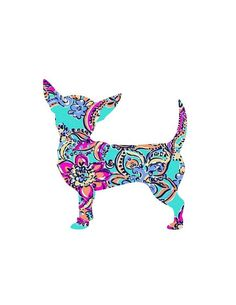 Chihuahua Dog Puppy Lilly Decal Inspired Decal Monogra #chihuahua Dog Puppy Lilly Decal Inspired Decal Monogram