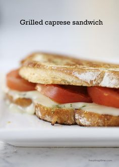 Grilled Caprese Sandwich from I Heart Nap Time on chef-in-training.com… An easy and delicious meal!