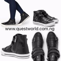 Black Next Unisex High Tops size 9/43 #18000 www.questworld.com.ng Pay on delivery in Lagos Nationwide Delivery