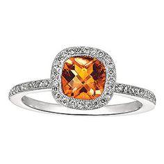 citrine engagement ring  -stunning