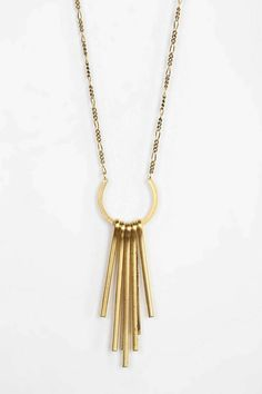 Gold bars necklace
