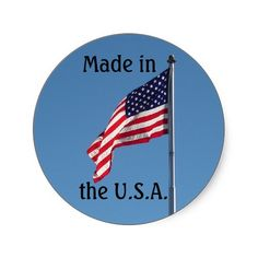 Made in the U.S.A. Round Stickers