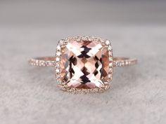 9mm puro anillo de oro rosa novia banda 14k por popRing en Etsy