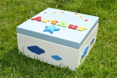 Large Children's Memory Box Baby Keepsake Box Available at www.popsyclunk.etsy.com