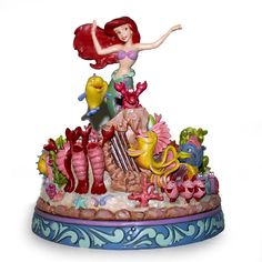 "We got no troubles, life is the bubbles... ""UNDER THE SEA"" - LITTLE MERMAID MUSICAL FIGURE (Jim Shore Disney Traditions) #Disney"