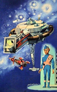Thunderbirds, art by Shigeru Komatsuzaki, Japan Thunderbird 1, Thunderbirds Are Go, Fantastic Show, Cult, Best Series, Retro Futurism, Sci Fi Fantasy, Best Tv, Science Fiction