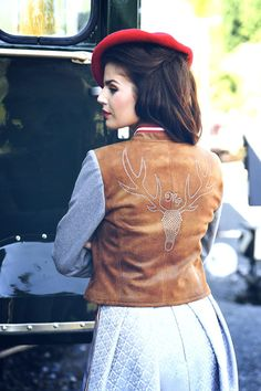 Used Leder Jacke kurz braun - Mirabell Plummer Blazer, Classic, Get Tan, Jackets, Woman, Derby, Blazers, Classic Books