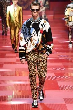 ee14bb79cb95 Dolce   Gabbana Spring 2018 Menswear Fashion Show Collection