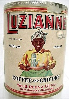 Luzianne Coffee and Chicory Tin  http://www.pinterest.com/pin/40673202859994085/ .. http://www.pinterest.com/pin/46654546115034430/