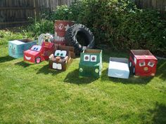 Have fun making these cute life like Disney Cars characters out of Cardboard boxes just like Rowleys family - Let your childs imagination run wild !