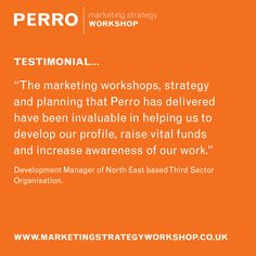 Testimonial from a happy client! Perro Marketing Strategy Workshop. Strategy, Brand, Implementation... #perromsw #marketingstrategy