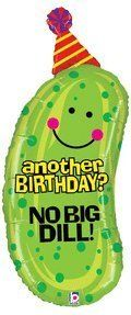 No Big Dill Pickle Shaped 37 Birthday Mylar Balloon *** You can get more details by clicking on the image.  This link participates in Amazon Service LLC Associates Program, a program designed to let participant earn advertising fees by advertising and linking to Amazon.com.
