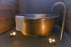 William Holland Patina Rotundus bath with Tin Interior #luxury #spa #ScarletHotel