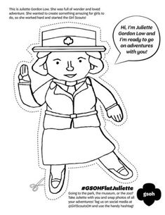 girl scout birthday coloring pages | 68 Best *Girl Scout Juliette Gordon Low images in 2019 ...