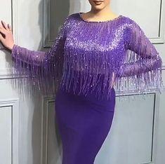 Luxury beaded fringe prom mermaid couture dress