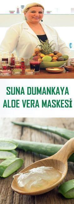 Suna Dumankaya Aloe Vera Mask - Beauty Make-Up Natural Cures, Natural Health, Natural Hair, Masque Aloe Vera, Aloe Vera Maske, Serum, Aloe Vera Creme, Aloe Vera Skin Care, Nutritious Smoothies