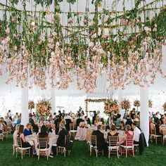 """Thank you to @marcyblum for taking over our Instagram for the day! Here's one more tip to end your night: """"If you only have one big statement, hang it over the dance floor!"""" #theknot : @AllanZepedaPhotography at #TheKnotDreamWedding I Flowers: @chapeldesigners 
