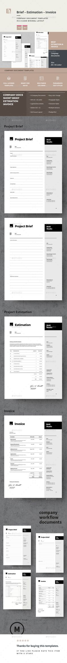 Invoice  Template Proposal Templates And Report Design