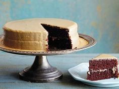 Get Lizzie's Old Fashioned Cocoa Cake with Caramel Icing Recipe from Food Network