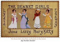 Gallery.ru / The bennet Girls - Мой Вышивка крестом Дизайн - nurdankanber