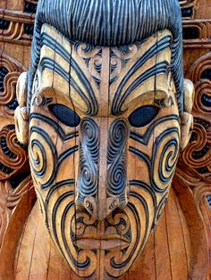 Maori carving, Te Puia, Rotorua, New Zealand by Kate Mew Arte Tribal, Tribal Art, Maori Face Tattoo, Maori Tattoos, Tattoo Art, Art Maori, Maori People, Maori Tattoo Designs, Art Premier