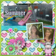 Pictures of my daughter.  Kit used:  Designs By Veronica A's Sweet As Can Be available at http://www.godigitalscrapbooking.com/shop/index.php?main_page=product_dnld_info&cPath=29_304&products_id=25163  Template:  Brenian Designs' Summer Moments available at http://www.godigitalscrapbooking.com/shop/index.php?main_page=product_dnld_info&cPath=29_377&products_id=25001