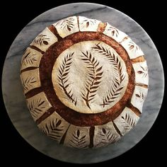 I have been making a lot more high hydration loaves recently which don't allow for much adventurous scoring, so really enjoyed getting… Artisan Bread Recipes, Sourdough Recipes, Sourdough Bread, Bread Shaping, Bread Art, Savoury Baking, Food Crafts, How To Make Bread, Food Design