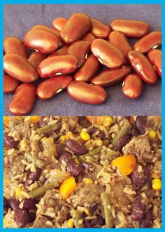 Kidney bean rice Kidney Beans, Rice Dishes, Vegetables, Nice, Food, Red Beans, Essen, Vegetable Recipes, Meals