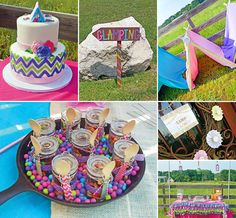 Looking for a modern twist on the tween sleepover party? Stephanie of Pretty Lovely Events shares this Bright, Pink & Chevron Girls Glamping Party with girly outdoor party ideas! #Glamping http://hwtm.me/12jiwYy