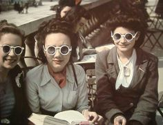 Ladies in glasses, 1940s Paris