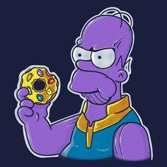 Homer - Infinity War, The Simpsons Simpsons Characters, Drawing Cartoon Characters, Character Drawing, Comic Character, Cartoon Drawings, Easy Drawings, Homer Simpson, Marvel Comics, Anime Comics