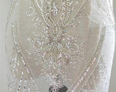 3D big flower lace fabric Luxury lace fabric Wedding   Etsy White Lace Fabric, Beaded Lace Fabric, Tulle Lace, Wedding Fabric, Big Flowers, Floral Embroidery, Wedding Styles, 3d, Luxury