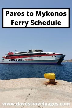 How To Get From Paros To Mykonos By Ferry: Information, Schedules, Tips: There are between 3 and 5 ferries per day sailing from from Paros to Mykonos during the summer season. Ticket prices start from around 23.00 Euro. This travel guide will show you how to book tickets online, and other tips for island hopping between Paros and Mykonos. Greek Islands Vacation, Greece Vacation, Greece Travel, Europe Travel Guide, Travel Guides, Mykonos, Santorini, Places In Greece, Minoan