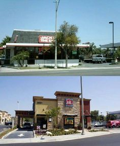 Jack in the Box before and after at the Plaza in riverside