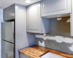 Perfecting the Imperfect In Our IKEA Kitchen: Fillers, Panels + Toe Kicks - Yellow Brick Home Ikea Kitchen Design, Ikea Kitchen Cabinets, Kitchen Layout, Ikea Kitchens, Dark Cabinets, Kitchen Ideas, Oak Kitchen Remodel, Small Kitchen Renovations, Remodel Bathroom