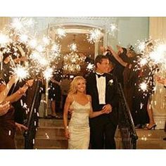 Wedding Sparklers!! Would love this and white balloons. I would prefer floating lanterns but I dont think the fire department will allow me that!